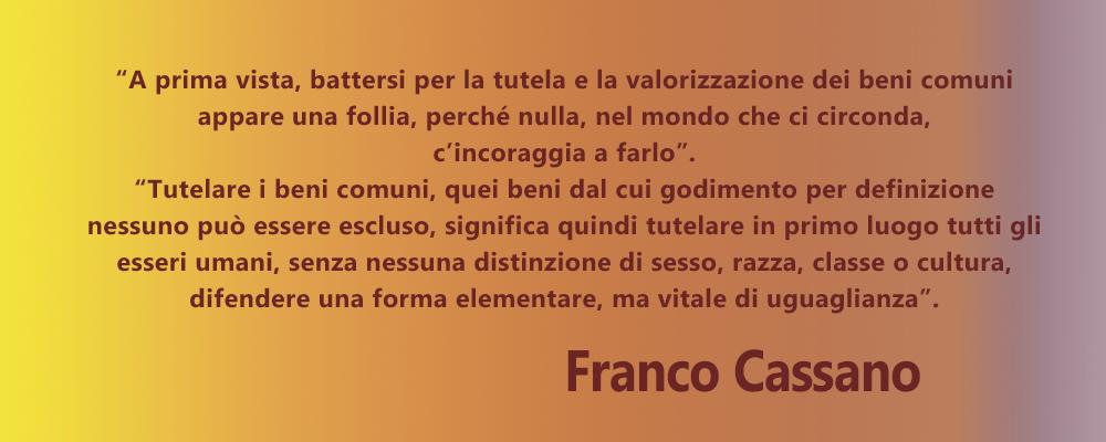 Comunità e territorio | Citazione Franco Cassano
